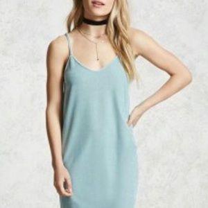 Dresses & Skirts - Velvet Maxi Dress (F21 / Ice Blue)